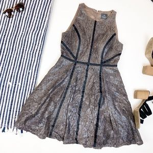 Adrianna Papell Snakeskin Fit n Flare Dress Size 8